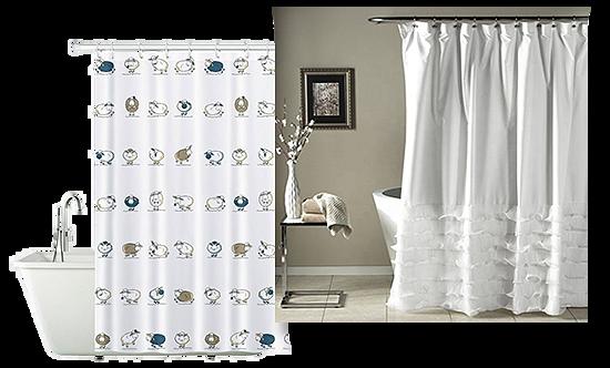 Тканевые шторки для ванн